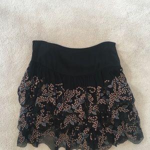 Catherine Malandrino Ruffle Mini Skirt.